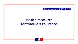 COVID-19 - Restrictions on entering Metropolitan France and its territorial (...)